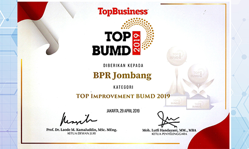 bank-jombang-raih-penghargaan-kategori-top-Improvement-bumd-2019-oleh-top-bumd-2019