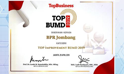 bank-jombang-raih-penghargaan-kategori-top-Improvement-bumd-2019-oleh-top-bumd-2019